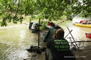 Green Drill by U.S. Army Reserves makes a splash in the Maumee!