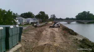 CONSTRUCTION and vegetation removal on Fort Wayne dykes