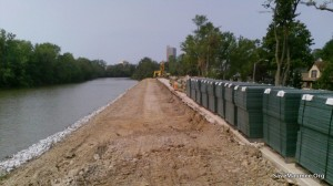 CONSTRUCTION Edgewater Blvd. Fort Wayne Levee