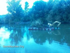 confluence, levee, vegetation_removal, Fort_Wayne_rivers