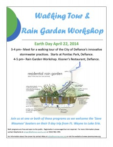 Invitation for Earth Day 2014 Educational Opportunities in Defiance, Ohio