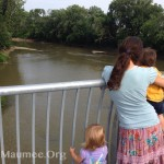 SMGO Secretary and youth take a breathtaking view of the Maumee from the new North Anthony Bridge.
