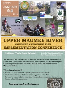 January 24, 2015 Upper Maumee Watershed Management Plan Implementation Conference. LET'S IMPLEMENT THIS TREMENDOUS PLAN!