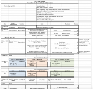 2015 RIVER SUMMIT EVENTS DRAFT