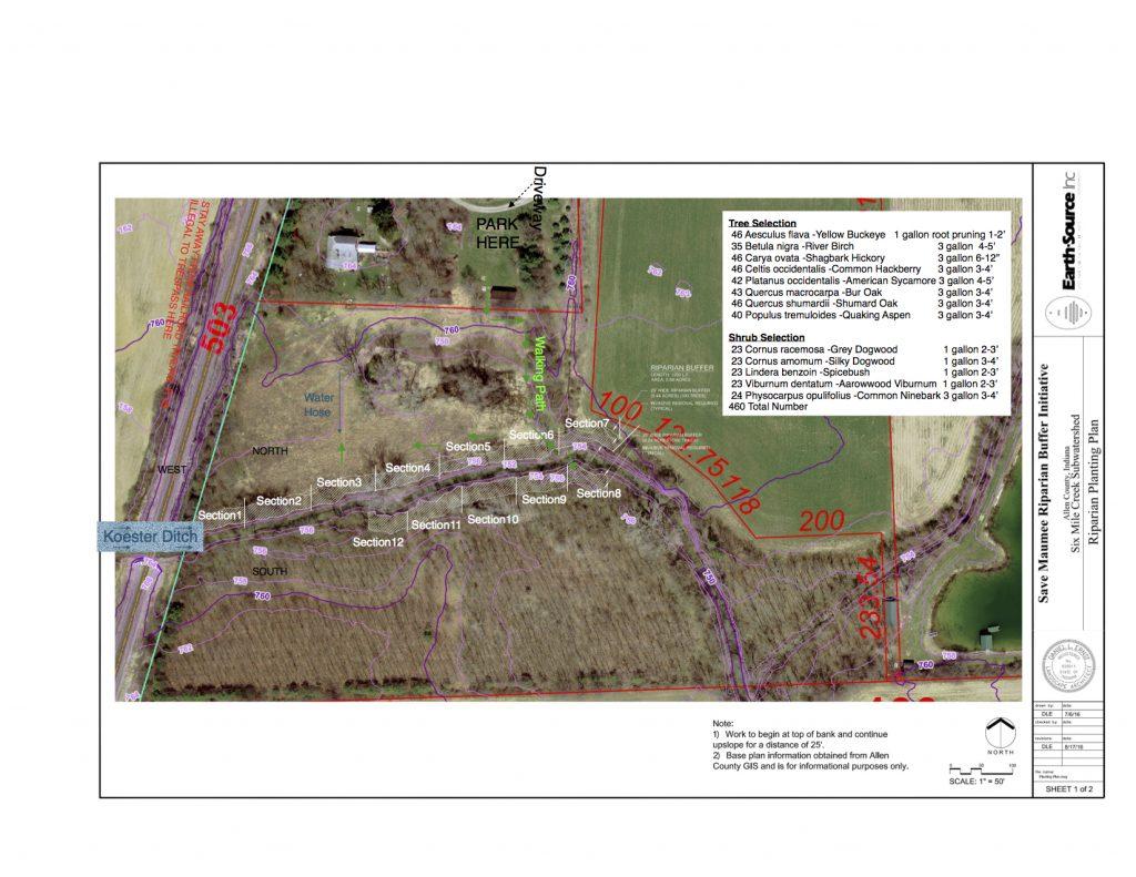Six Mile Creek Planting Plan