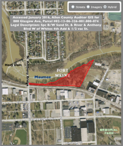 Legal Description of project area adjacent to & receiving groundwater from brownfield site