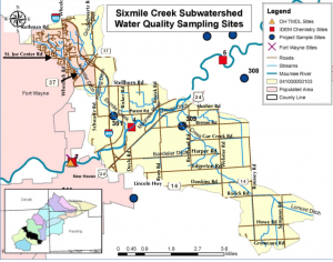 Sixmile Subwatershed road references