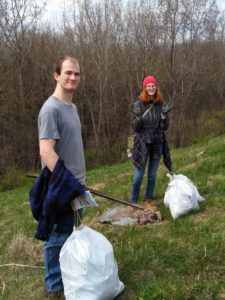 Daniel and Alex cleaning up the maumee